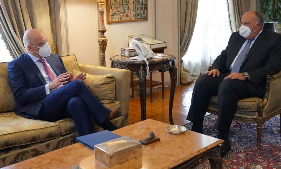 Δένδιας για συνάντηση με Shoukry: Συζητήσαμε για τα θέματα της Ανατολικής Μεσογείου