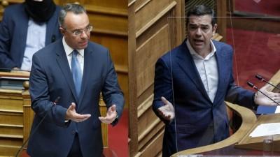 Βουλή: Στα ύψη η αντιπαράθεση για τον πτωχευτικό κώδικα - Πρόταση μομφής κατά Σταϊκούρα από τον Αλέξη Τσίπρα