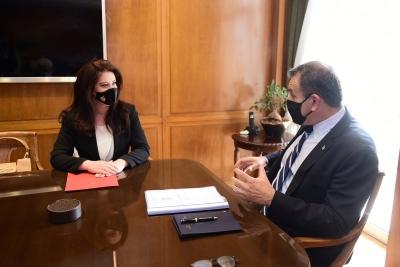 Συνάντηση Παναγιωτόπουλου με την Πρέσβη της Αλβανίας