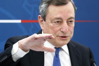 Draghi (Ιταλία): Παραμένει επιτακτική ανάγκη η νομισματική και δημοσιονομική στήριξη της οικονομίας