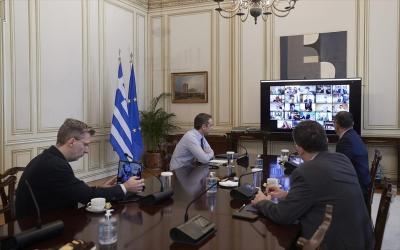 Μέσω τηλεδιάσκεψης το Υπουργικό Συμβούλιο (29/3) υπό τον πρωθυπουργό