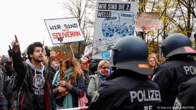 Γερμανία: Νέες διαδηλώσεις κατά του lockdown σε Βερολίνο, Αμβούργο και Δρέσδη