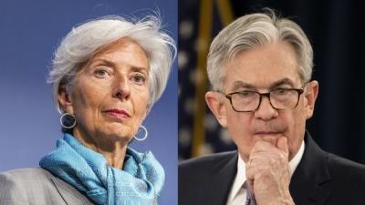 Σφοδρή σύγκρουση Lagarde (EKT) - Powell (Fed) με φόντο… τον πράσινο κύκνο