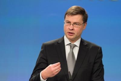 Dombrovkis για δανειολήπτες σε ελβετικό φράγκο: Η προστασία τους εναπόκειται στα κράτη - μέλη