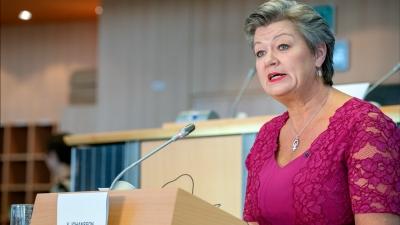 Στην Ελλάδα η επίτροπος Johansson την Κυριακή (28/3) - Επίσκεψη σε Σάμο, Λέσβο