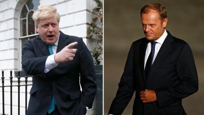 Κόντρα Johnson - Tusk για το ποιος θα μείνει στην ιστορία ως ο «Mr No deal» στο Brexit