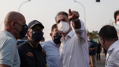Στην Ηλεία ο Κυριάκος Μητσοτάκης - Μεταβαίνει στις πληγείσες από τις πυρκαγιές περιοχές