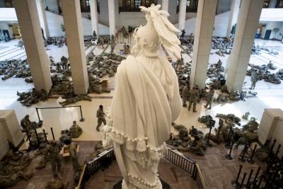 ΗΠΑ: Πάνω από 200 στρατιώτες της εθνοφρουράς που βρέθηκαν στο Καπιτώλιο θετικοί στον covid