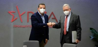 Τσίπρας σε Regling (ESM): Επανεκκίνηση της οικονομίας με μέτρα στήριξης
