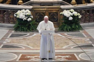 Πάπας Φραγκίσκος: Να κάνουμε μια νέα αρχή, να μην χάσουμε ποτέ την ελπίδα