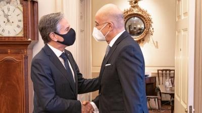 Κοινή δήλωση Ελλάδας και ΗΠΑ με αιχμές σε Τουρκία: Σεβασμός της κυριαρχίας των κυριαρχικών δικαιωμάτων και του διεθνούς δικαίου