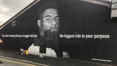 Βανδαλίστηκε με γκράφιτι τοιχογραφία του Ράσφορντ!