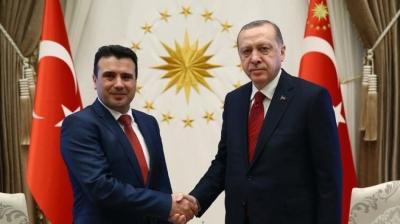 Για ενίσχυση της οικονομικής συνεργασίας και διευκολύνσεις υπέρ Τούρκων επενδυτών, συζήτησαν Erdogan - Zaev στην Κωσταντινούπολη