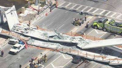 ΗΠΑ: Το πανεπιστήμιο της Φλόριντα ήταν ενήμερο για τις ρωγμές στην πεζογέφυρα πριν από την κατάρρευσή της