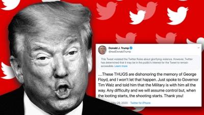 ΗΠΑ: Αποκλείουν τον Trump από το Twitter