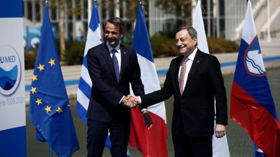 Σύνοδος EUMED – Συνάντηση Μητσοτάκη - Draghi για κλιματική κρίση, ασφάλεια στη Μεσόγειο