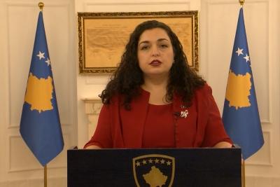 Νέα πρόεδρος του Κοσόβου εξελέγη η Vjosa Osmani