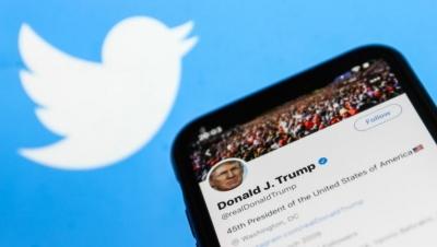 Twitter: «Βουτιά» 7% στη μετοχή μετά τον μόνιμο αποκλεισμό του Trump
