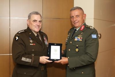 Φλώρος (Α/ΓΕΕΘΑ) - Στρατηγός Miley (ΗΠΑ): Η ενίσχυση της στρατιωτικής συνεργασίας σε υψηλή προτεραιότητα για Ελλάδα - ΗΠΑ