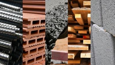 Μειώθηκαν οι τιμές στα υλικά κατασκευής τον Απρίλιο του 2020