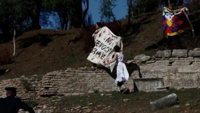 Θιβετιανοί αυτονομιστές μπήκαν στο ναό της Ήρας κατά την αφή της Ολυμπιακής Φλόγας