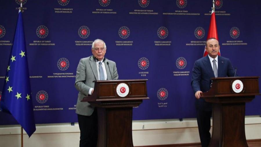 Borrell: Στόχος η βιώσιμη λύση στην Ανατολική Μεσόγειο - Cavusoglu: Σημαντική, η θετική ατμόσφαιρα μεταξύ Τουρκίας και ΕΕ