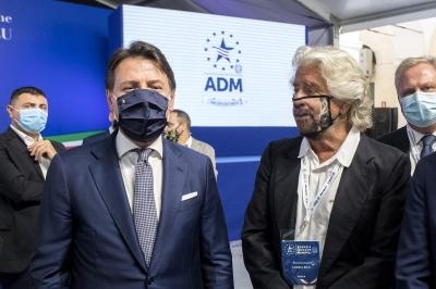 Iταλία: Ο Grillo ναρκοθετεί τα σχέδια του Conte για νέο Κίνημα Πέντε Αστέρων