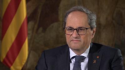 Ο πρόεδρος της Καταλονίας Quim Torra στερείται τη βουλευτική ιδιότητα, λόγω «απείθειας»
