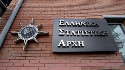 ΕΛΣΤΑΤ: Στο 9% αναθεωρήθηκε η ύφεση για το 2020