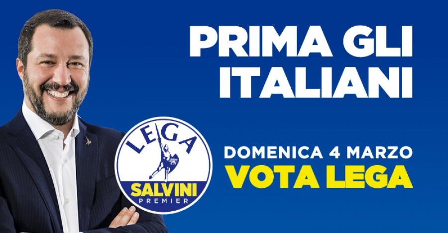 Ενισχύονται ξανά Lega και Salvini στην Ιταλία αγγίζουν το 36% - Οικονομία και μετανάστες ωθούν τους εθνικιστές