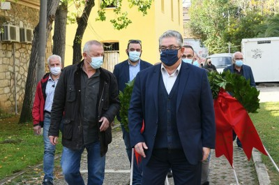 Στο ΕΑΤ ΕΣΑ ο Κουτσούμπας: Τα μηνύματα του Πολυτεχνείου συγκλονίζουν και σήμερα τον ελληνικό λαό