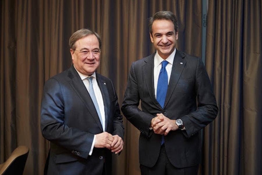 Συγχαρητήρια Μητσοτάκη στον Laschet για την εκλογή του στην ηγεσία του CDU