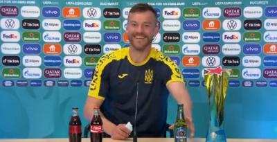 EURO 2020: Ο Γιαρμολένκο παίρνει θέση στη «μάχη» των μπουκαλιών! (video)