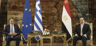 Μητσοτάκης: Όχι εντάσεις στη γειτονιά μας - Ταύτιση για Λιβύη - Al Sisi: Σεβασμός στο Διεθνές Δίκαιο
