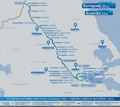 Στην κυκλοφορία τα πρώτα 14 χιλιόμετρα του νότιου τμήματος του Ε65 – Παρών ο Κ. Καραμανλής