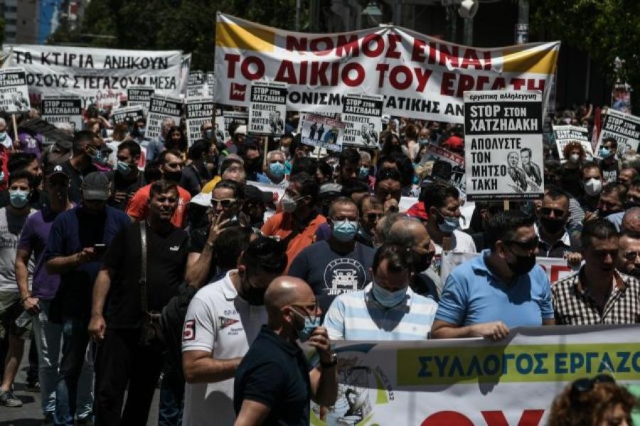ΓΣΕΕ: Ξεπέρασε κάθε προηγούμενο η συμμετοχή στην απεργία