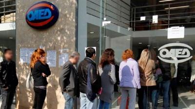 ΟΑΕΔ: Μείωση κατά 64% των επιδοτούμενων ανέργων τον Μάιο στα 78.476 άτομα