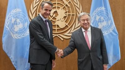 Συνάντηση Μητσοτάκη με Guterres (ΟΗΕ) στη Νέα Υόρκη – Το πρόγραμμα του πρωθυπουργού