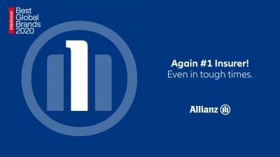 Η Allianz αναδεικνύεται για άλλη μία φορά ως το νούμερο ένα ασφαλιστικό brand παγκοσμίως