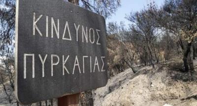 Πολύ υψηλός κίνδυνος πυρκαγιάς σε Αττική και Εύβοια την Πέμπτη 19 Αυγούστου