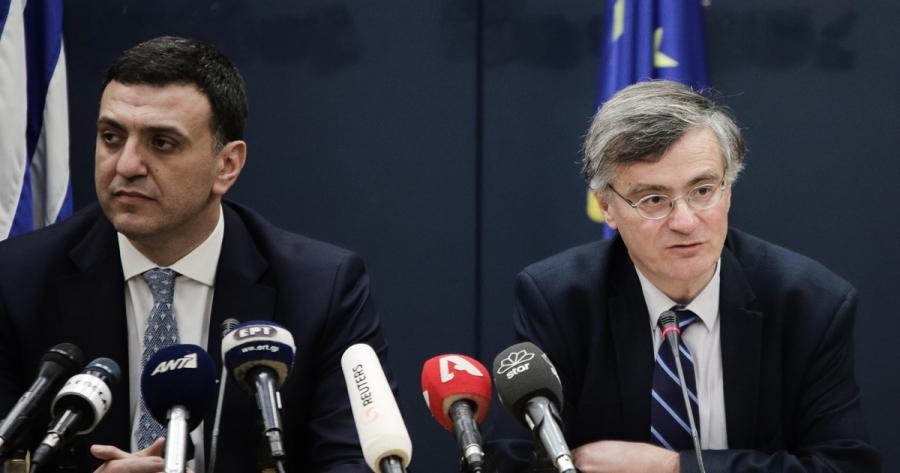 Ενημερώνουν τα κόμματα για την επιδημία του κορωνοϊού Κικίλιας και Τσιόδρας