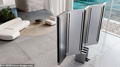 Η πρώτη πτυσσόμενη τηλεόραση 165 ιντσών εμφανίζεται και εξαφανίζεται με το πάτημα ενός κουμπιού