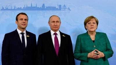 Τηλεδιάσκεψη Putin με Merkel και Macron για Ουκρανία, Συρία, Λιβύη