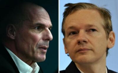 Τον ιδρυτή των Wikileaks, Julian Assange επισκέφθηκε στη φυλακή ο Γιάνης Βαρουφάκης