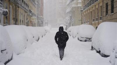 Στο έλεος του χιονιά η Ισπανία