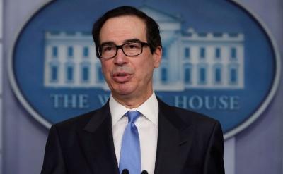 Mnuchin (ΥΠΟΙΚ ΗΠΑ): Η επανεκκίνηση της οικονομίας θα γίνει με βραδύ ρυθμό