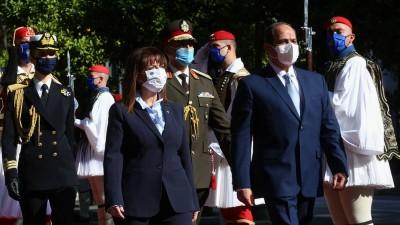 Σακελλαροπούλου (ΠτΔ) σε el Sisi (πρόεδρος Αιγύπτου): Ορόσημο η συμφωνία μας για τη μερική οριοθέτηση της ΑΟΖ