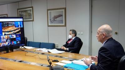 Ο Δένδιας ενημέρωσε την ΕΕ για Λιβύη, Τουρκία, Αίγυπτο - Τηλεδιάσκεψη Συμβουλίου Εξωτερικών Υποθέσεων
