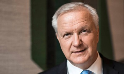 Rehn (ΕΚΤ): Η Ευρωζώνη μπορεί να πέσει σε μια επικίνδυνη παγίδα... αυτή της οικονομικής στασιμότητας και του χαμηλού πληθωρισμού