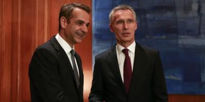 Μητσοτάκης - Stoltenberg: Επικοινώνησαν για τις συνομιλίες αποκλιμάκωσης της έντασης στη Μεσόγειο